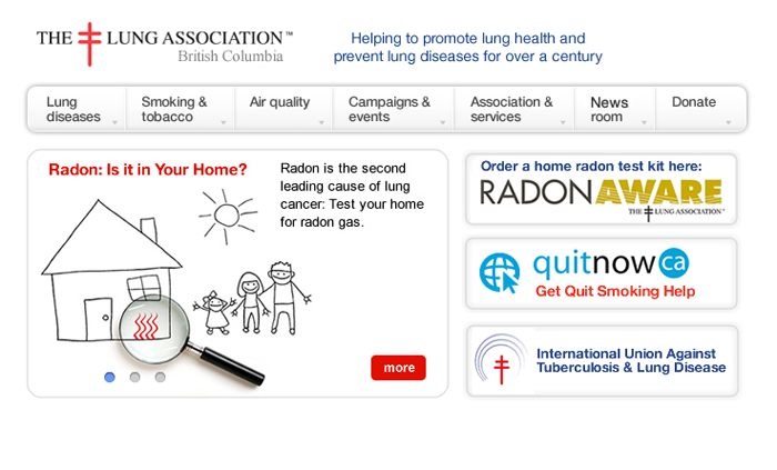 BC Lung Association website